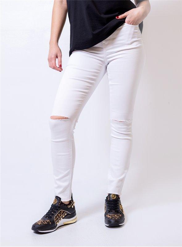 Silvian Heach Pantalón elástico blanco