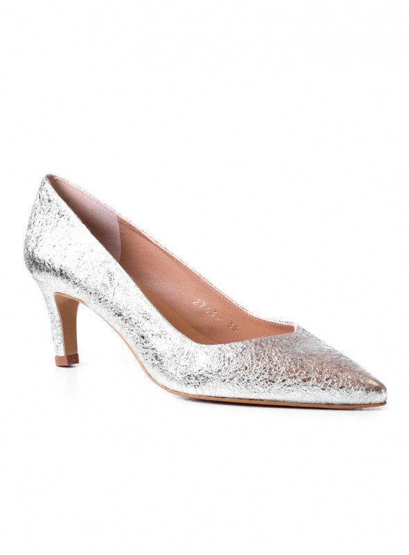 Linea Kosta Zapato Textura Plateado