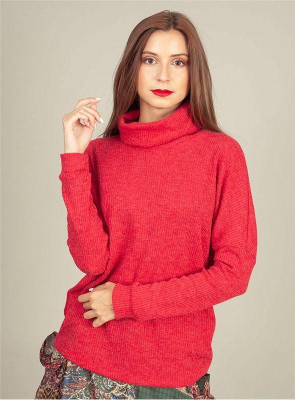 Malena Jersey Punto Rojo