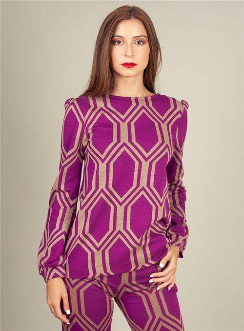 Malena Camiseta estampado geométrico