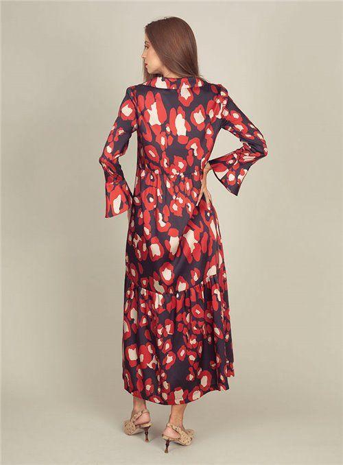 Malena Vestido Largo Estampado print