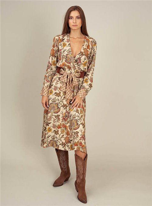 Dixie Vestido floral lazada