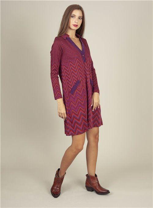 Mónica Lendínez Mini vestido espiga multi