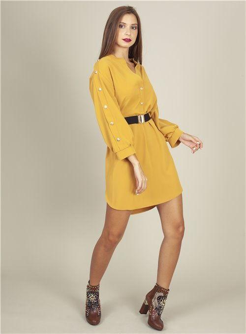 Acces Vestido Mostaza