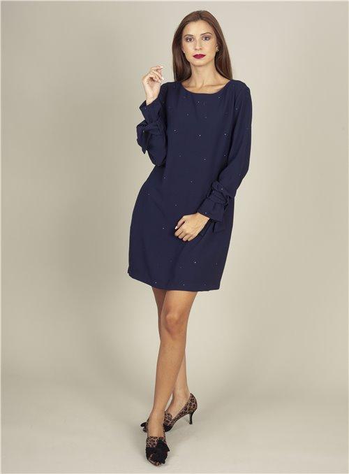 Acces Vestido azul strass
