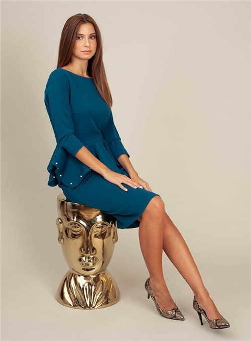 Moskada Vestido azul índigo