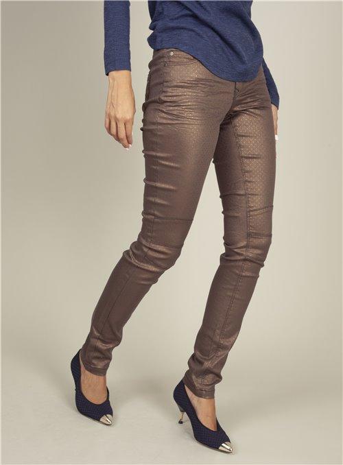 Nu Pepper Pantalón metalizado bronze