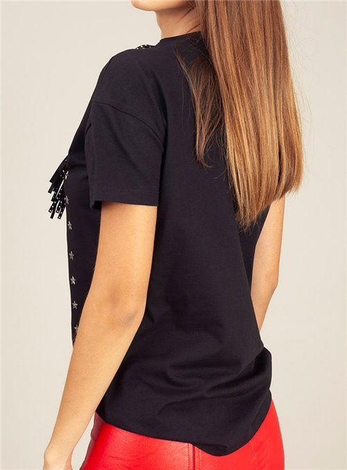 Almagores Camiseta Negra Flecos
