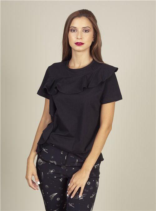 Almagores Camiseta negra volante