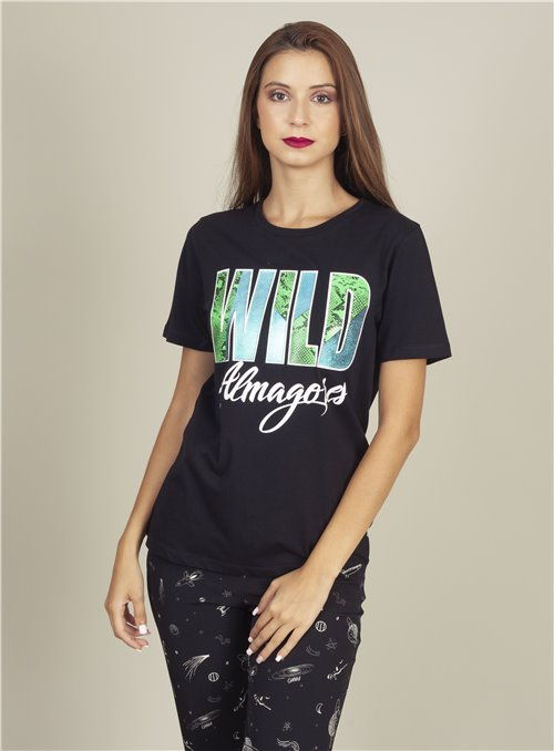 Almagores Camiseta Negra wild