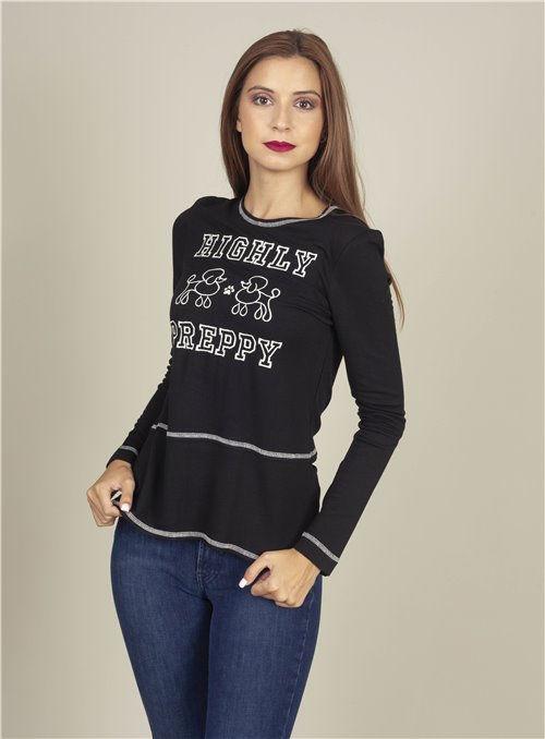 H. Preppy Camiseta Long negro