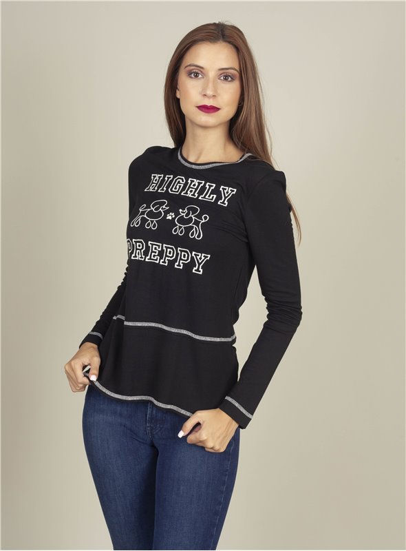 H. Preppy Camiseta Long negro
