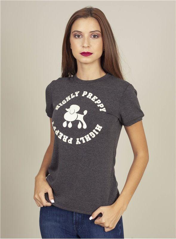 H. Preppy Camiseta poodle gris