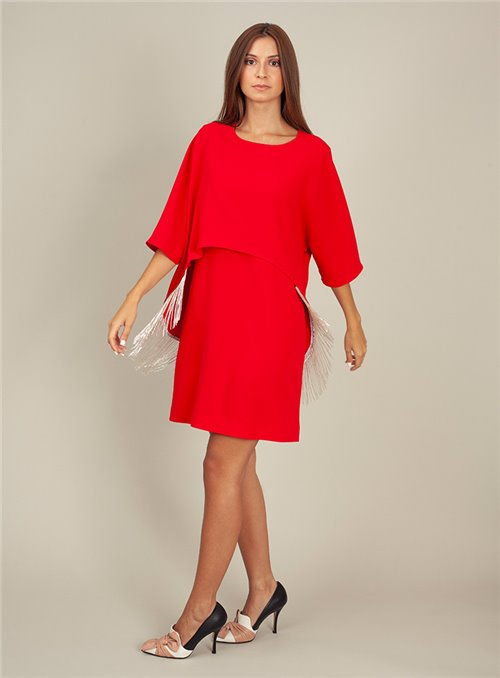 Moskada Vestido cóctel rojo