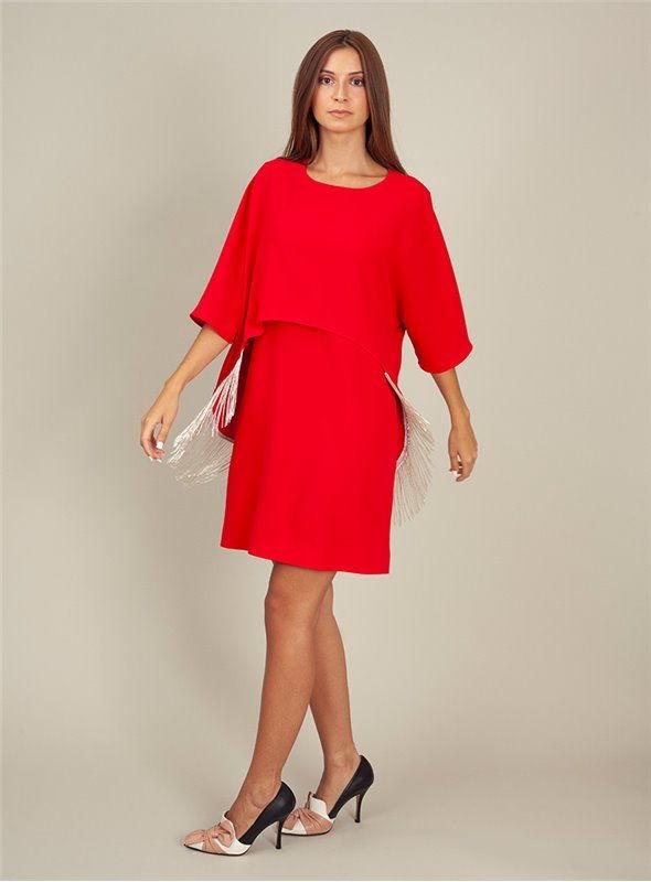 Moskada Vestido Coctel Rojo