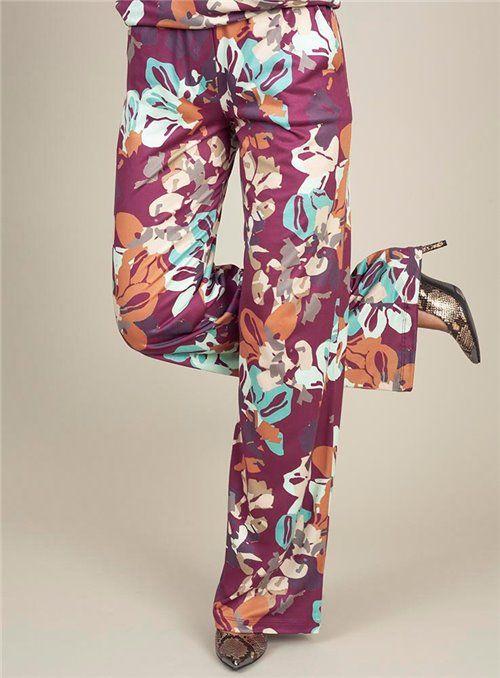 Malena Pantalón Fluido Estampado Flores