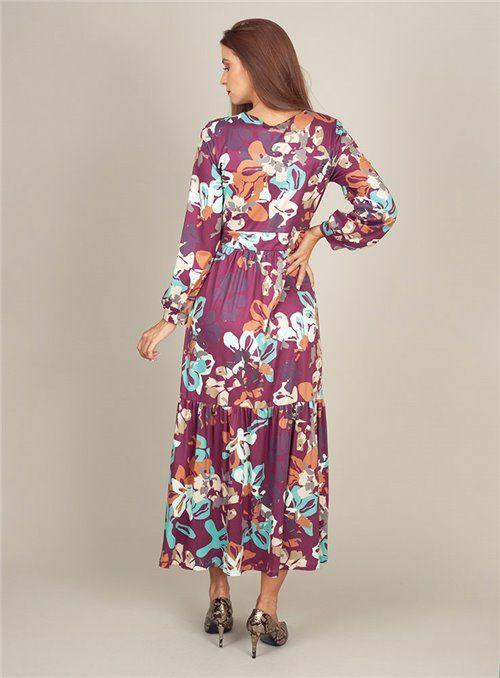 Malena Vestido Largo Estampado Flores