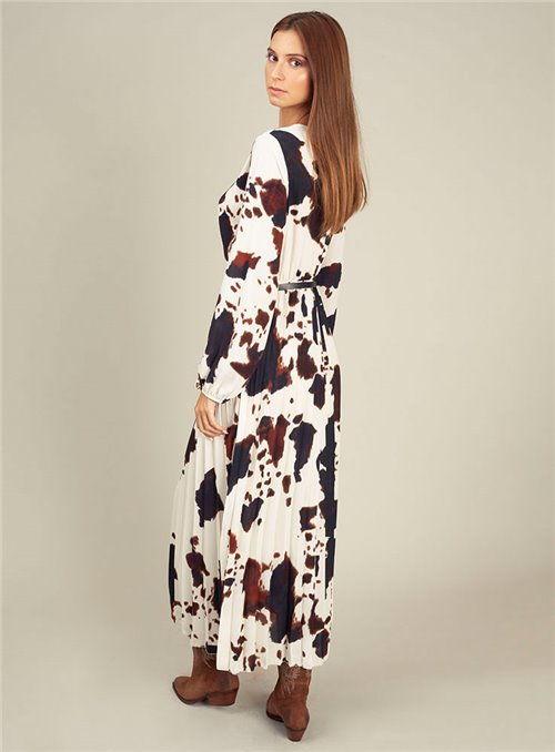 Dixie Vestido estampado vaca