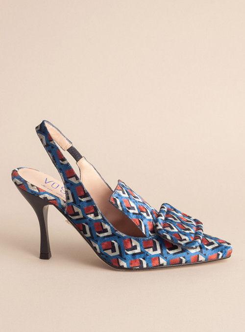 VOSSO Zapato estampado geométrico azul