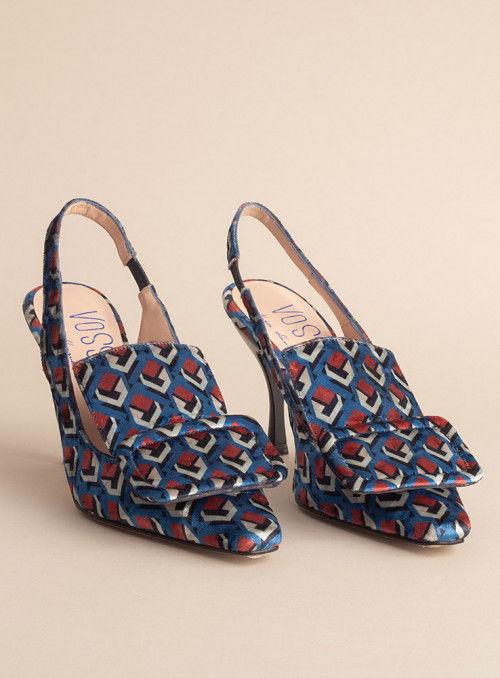 VOSSO Zapato estampado geométrico hebilla
