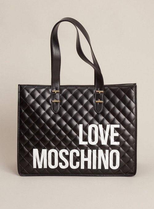 Moschino Love bolsos Bolso Shopping acolchado negro