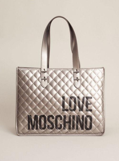 Moschino Love bolsos Bolso Shopping Plata