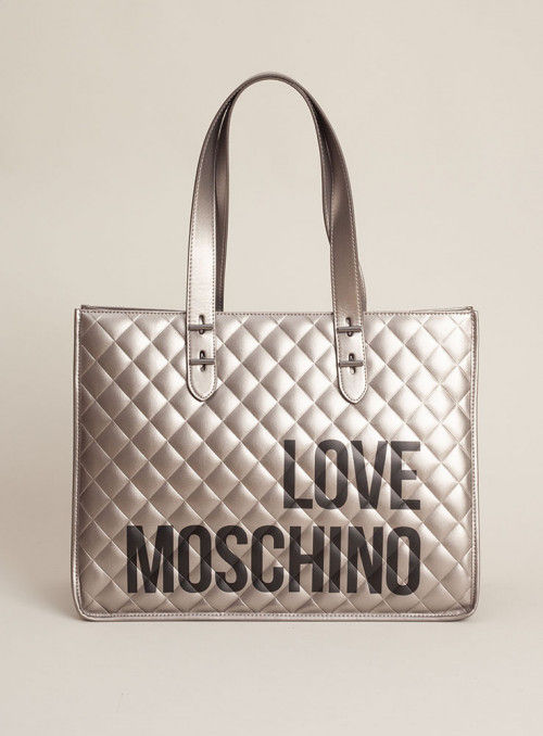 Moschino Love bolsos Bolso shopping plata