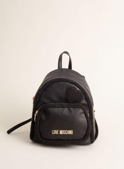 Moschino Love bolsos Mochila Negra