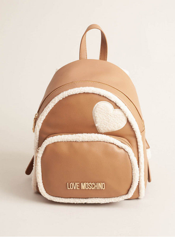 Moschino Love bolsos Mochila Beige