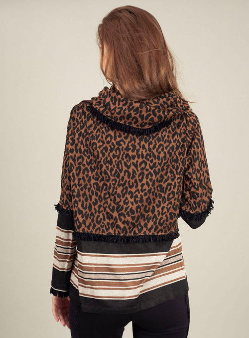 Cristina Effe Jersey Estampado Leopardo