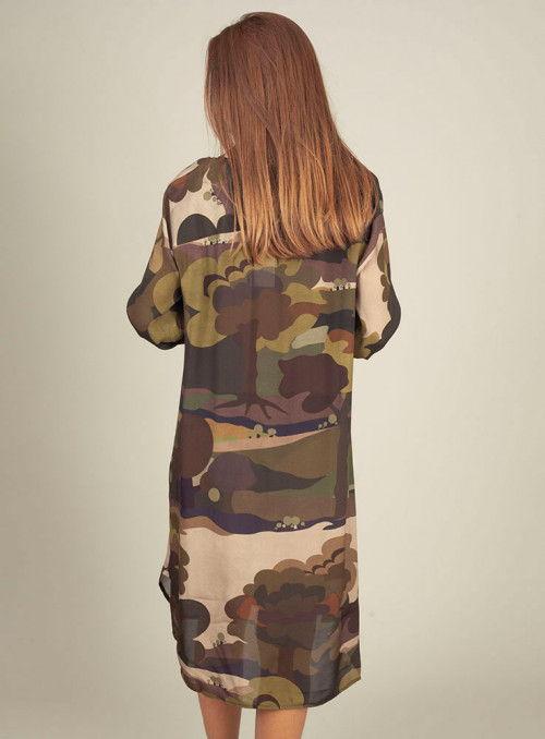 Otto d ame Vestido Camisero Estampado Militar