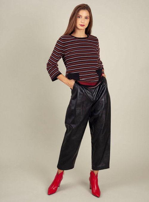 Twin Set Pantalón polipiel negro
