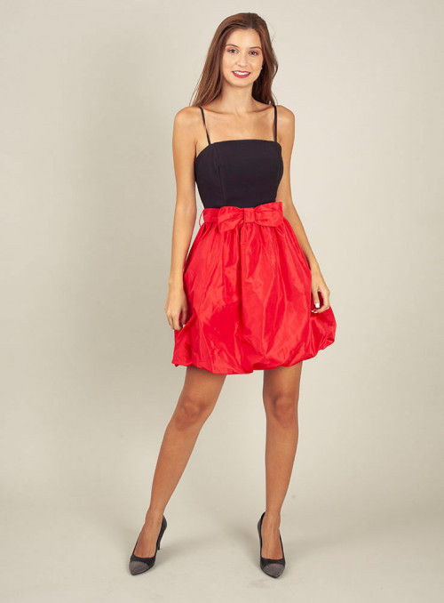 Rinascimento Vestido bicolor lazo