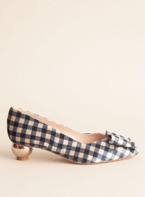 VOSSO Zapato cuadros vichy azul