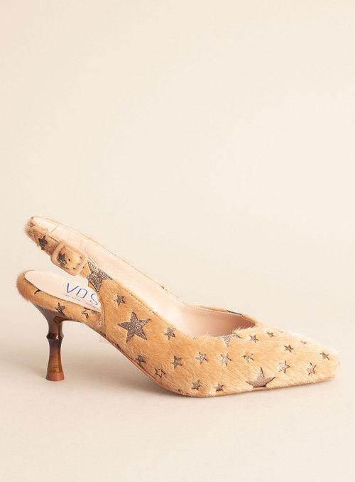 VOSSO Zapato estrellas beige