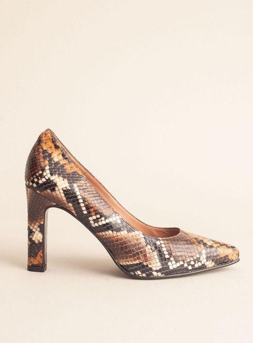 JONI Zapato Salón Estampado Serpiente