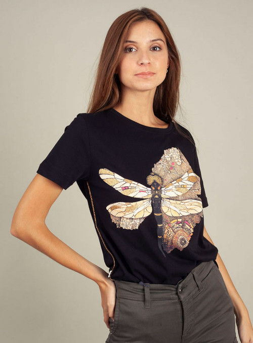 Jijil Camiseta estampado mariposa