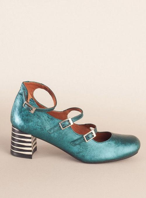 Nemonic Zapato metalizado tiras