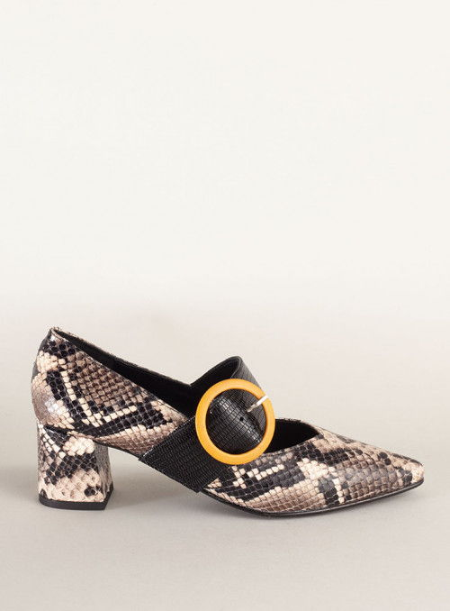 JONI Zapato Estampado Serpiente Pulsera
