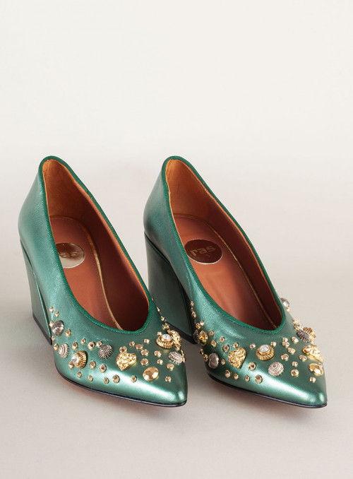 Ras Zapato verde pedrería