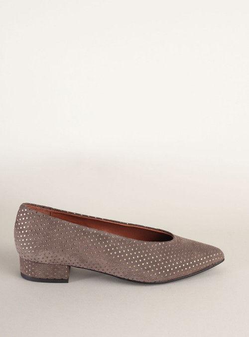 Kess Bailarina gris puntitos