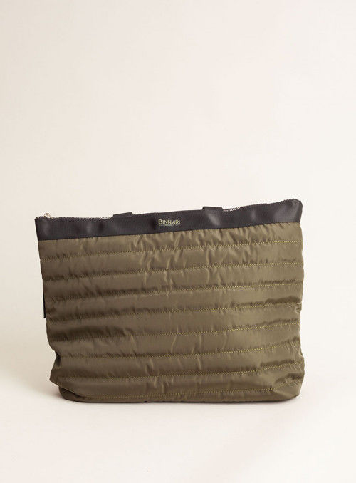 Binnari Bolso XL acolchado verde