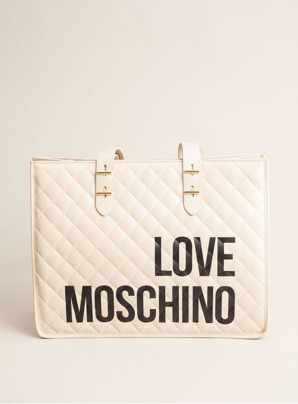 Moschino Love bolsos Bolso Shopping crema