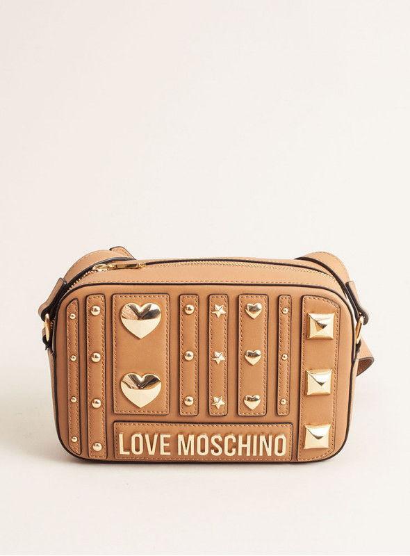 Moschino Love bolsos Bolso Bandolera Beige Tachuelas