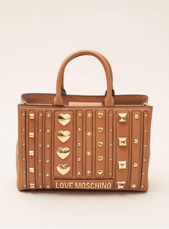Moschino Love bolsos Bolso De Mano Negro tachuelas love moschino