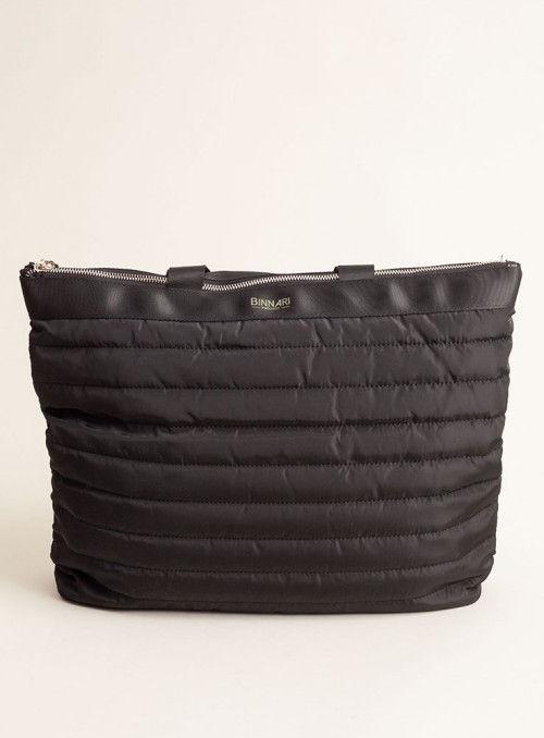 Binnari Bolso XL acolchado negro