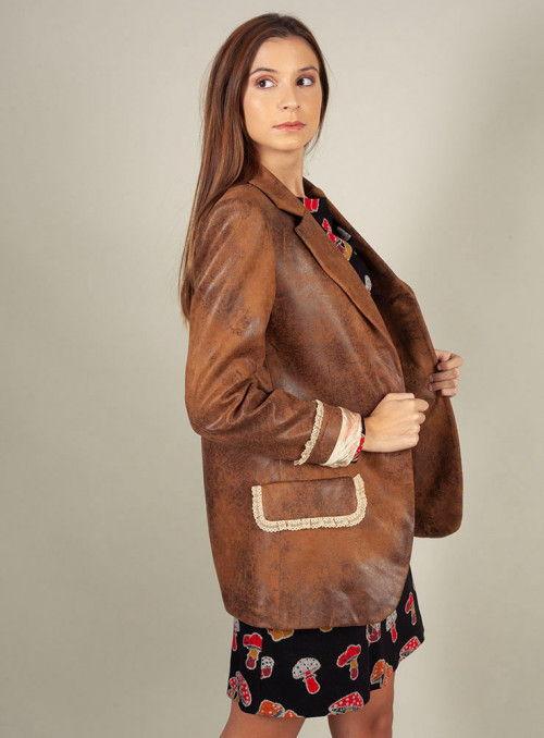 Mangata Blazer ante marrón