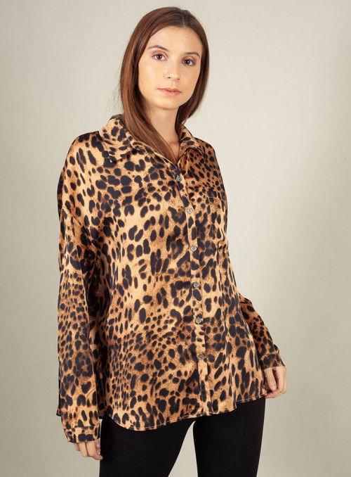 Nu Woman Camisa estampado leopardo