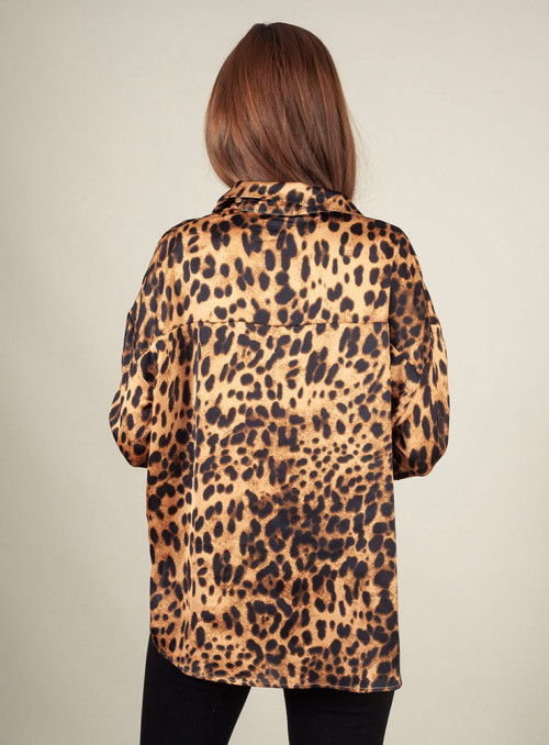 Nu Woman Camisa estampado leopardo
