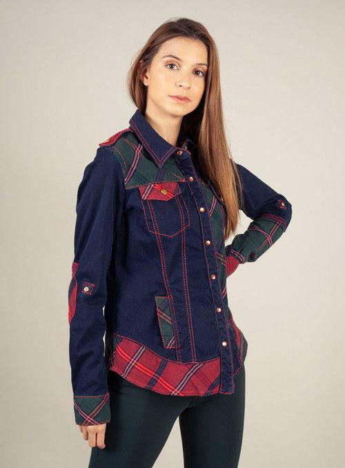 H. Preppy Camisa vaquera patchwork